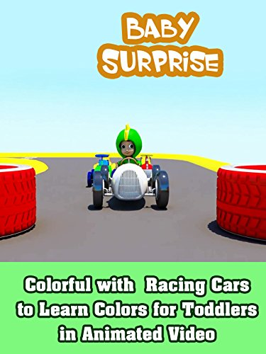 Colorful with Racing Cars to Learn Colors for Toddlers in Animated Video