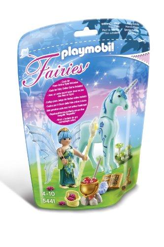 Playmobil-5441-Figurine-Fe-Gurisseuse-Avec-Licorne-Bleuet