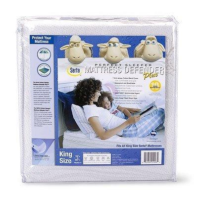 Serta Perfect Sleeper Mattress Defender Plus Waterproof Mattress Cover Size: Twin front-1049490