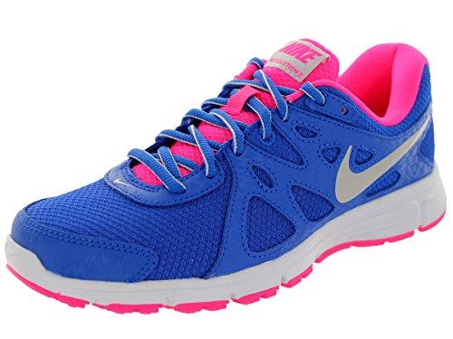 Nike Women'S Revolution 2 Hypr Cblt/Mtlc Pltnm/Hypr Pnk Running Shoe 8 Women Us