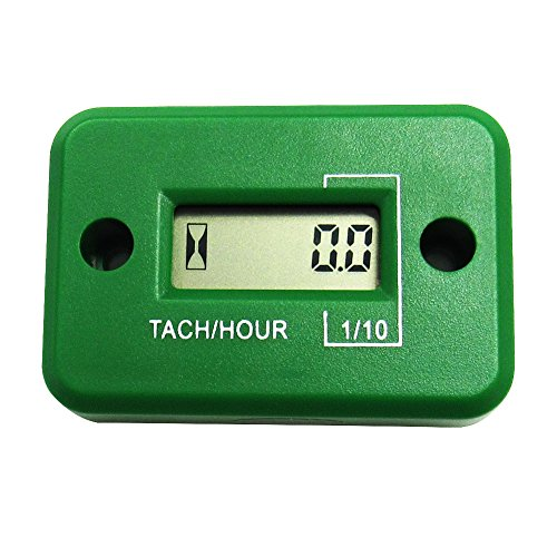 Aimilar Inductive Tach Hour Meter Tachometer for 4 Stroke Gas Engine Motorcycle ATV Snowmobile Boat (Inductive Tachometer Motorcycle compare prices)