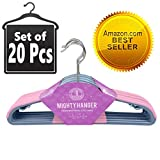 ★Best Seller★ Pink Mighty Hanger™ Premium Clothes Hanger for Baby, Kids or Adults - Extra Strong, Ultra Thin 1/7