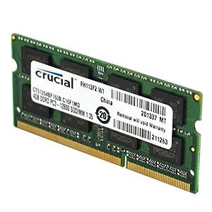 Crucial CT102464BF160B 8GB DDR3 PC3-12800 Unbuffered NON-ECC 1.35V 1024Meg x 64