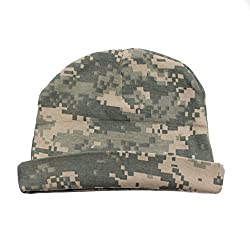 Crazy Baby Clothing Baby Beanie One Size in Color Digital Camo