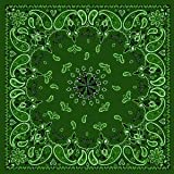 Antique Style Green Paisley Bandana
