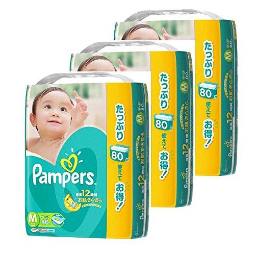 パンパース テープ  ウルトラジャンボ M 240枚 (80枚×3個) (テープタイプ)