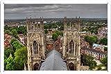 ヨーク大聖堂の塔からの眺めのティンサイン 金属看板 ポスター / Tin Sign Metal Poster of View From York Minster Tower -