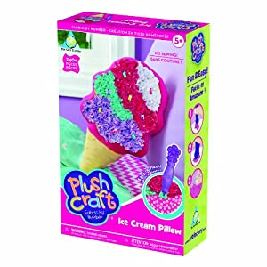 PlushCraft (R) Ice Cream Pillow Kit-Ice Cream Pillow