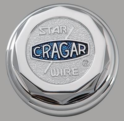 Cragar 6026115: Center Cap, Aluminum, Chrome Plated, Bolt-On, Decagon, Each (Cragar)
