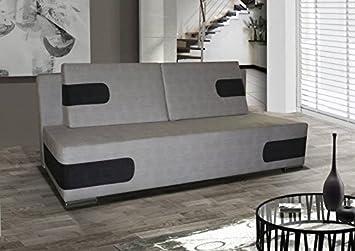 3er Sofa Danilo mit Staukasten und Bettfunktion - Abmessungen: 210 x 98 cm (B x T)