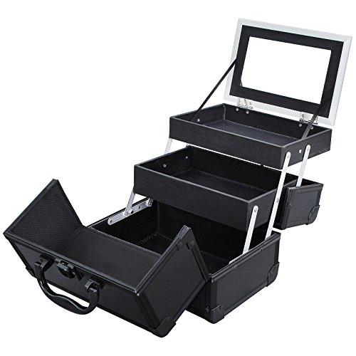 songmics-portable-makeup-train-case-alumi-cosmetic-box-with-mirror-black-umuc11b