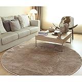 (OSJ)カーペット ラグ マット ラグマット 絨毯 円形 マイクロファイバー ラグ (φ185 ベージュ) 約2畳滑り止め 洗える ウォッシャブル ホットカーペット対応 カーペットRUG CARPET carpet 5色選べる