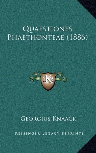 Quaestiones Phaethonteae (1886)