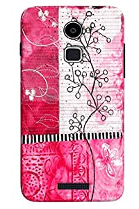 Clarks Pink Art Pattern Hard Plastic Printed Back Cover/Case For Coolpad Note 3 Lite