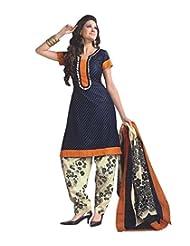 Moradiya International Export Women Cotton Unstiched Printed Salwar Suit(nikki9_blue__Cotton_Free Size)