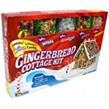 Wonka Gingerbread House (Cottage) Candy Kit with Runts, Nerds, Sweetarts and Bottlecaps for trim