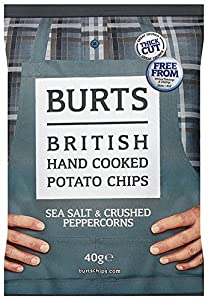 Burts Potato Chips Salt and Black Pepper 40 g (Pack of 20)