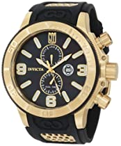 Jason Taylor for Invicta Collection 13688 Black Mother-Of-Pearl Dial Black Polyurethane Watch