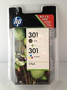 2 Druckerpatronen HP 301 black/color (Multipack)