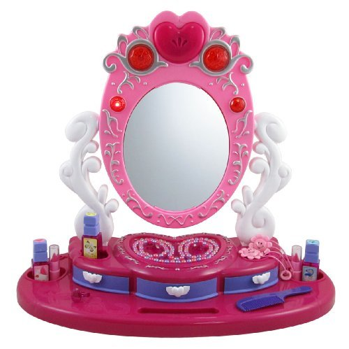 Dresser Mirror Vanity Beauty Set with Jewelry for Kids by Liberty Imports