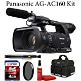 Panasonic AG-AC160 AVCCAM HD Hand-Held Camcorder + Deluxe Case + Air Blower + Lens Cleaning Brush + Sunpak CPL Filter + 4GB Memroy Card