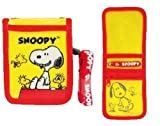 Peanuts Snoopy ID Card Passcase Wallet Badge Holder Coins Zipper Pocket With Neck Strap