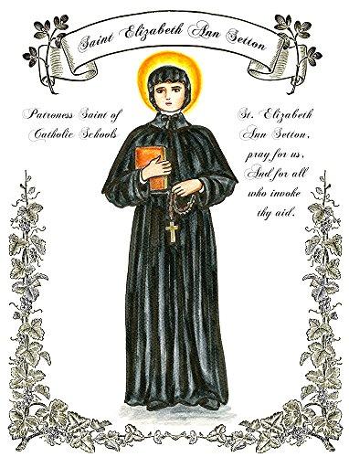 "11"" X 14"" St Elizabeth Ann Setton Patroness Saint Of Catholic Schools Art Print front-962025"