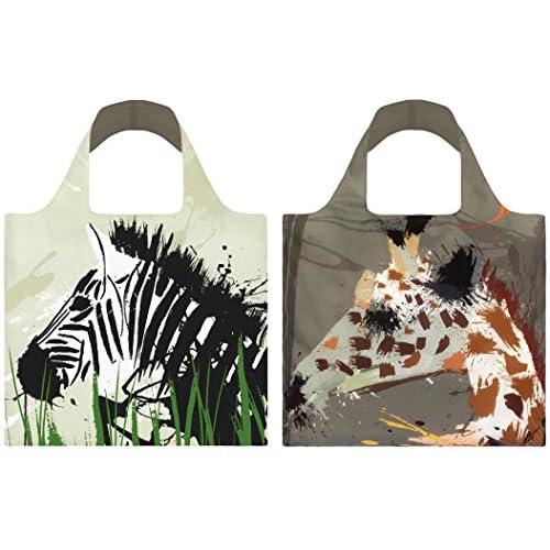 """LOQI(ローキー)エコバッグ """"ANIMA"""" Zebra & Giraffe(AN.ZG)"""