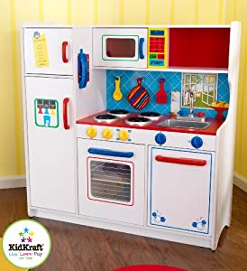 Kidkraft deluxe let 39 s cook kitchen toys games for Kitchen set game