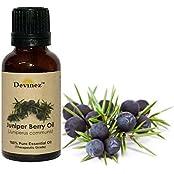Devinez Juniper Berry Essential Oil, 100% Pure, Natural & Undiluted, 15ml In Glass Bottle