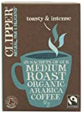 Clipper Organic Instant Freeze Dried Coffee 25 Sticks 50 g (Pack of 12)