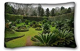 Generic Men\'s Landscapes Gardens Portugal Azores palm garden 20x30 Inch