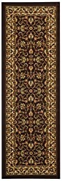 Anti-Bacterial Rubber Back RUGS RUNNERS Non-Skid/Slip 2x5 Runner Rug   Brown Traditional Floral Indoor/Outdoor Thin Low Profile Modern Home Floor Bathroom Kitchen Hallways Colorful Decorative Rug
