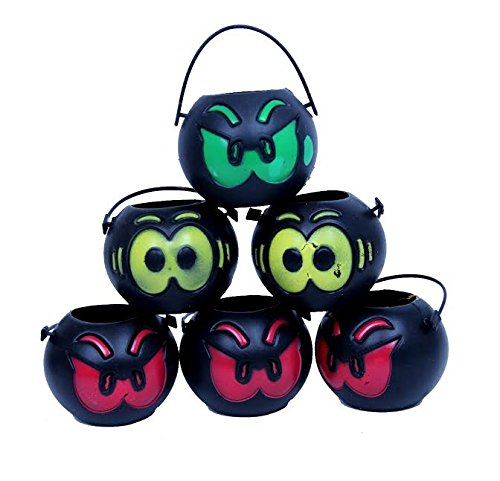 Dazzling Toys Mini Halloween Cute Candy Holders with Handles - Pack of 12 - Great Use for Part Favors