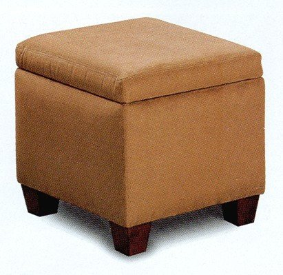 cheap ottomans and footstools rating review brown microfiber modern