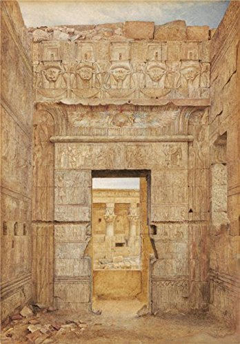 The High Quality Polyster Canvas Of Oil Painting 'Henry Roderick Newman,Room Of Tiberius,Temple Of Isis,Philae,about 1894' ,size: 12x17 Inch / 30x44 Cm ,this Replica Art DecorativePrints On Canvas Is Fit For Bathroom Artwork And Home Artwork And Gifts