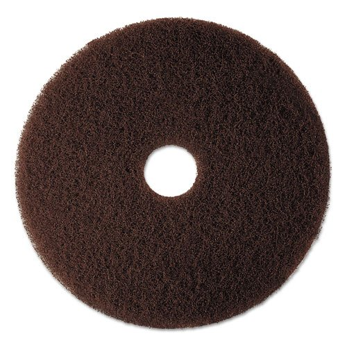 3M Low-Speed High Productivity Floor Pads 7100, 20-Inch, Brown - Includes 5 pads per case. 1206 3 3m 335 5