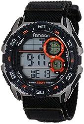 Armitron Sport Men's 40/8329BLK Digital Chronograph Black Nylon Strap Watch