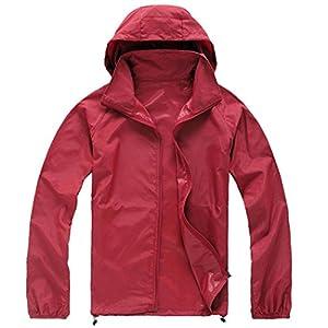 Zeagoo fashion Climbing Waterproof Running Outdoor Hoodie coat Sport Jacket,Red,XX-Large