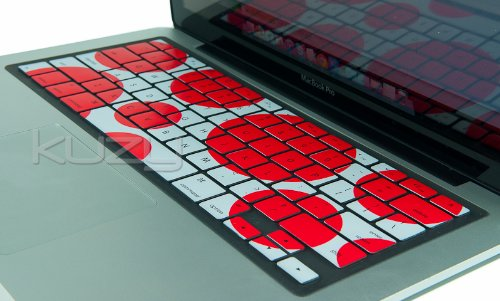 =>  Kuzy - Circles RED Keyboard Cover Silicone Skin for MacBook Pro 13