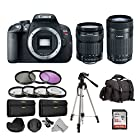 Canon EOS Rebel T5i Digital SLR with 18-135mm Lens + 55-250mm Lens + 16 Piece Deluxe Accessory Kit Bundle