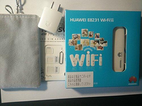 Huawei E8231 モバイル WiFi ルーター SIMフリー ホワイト 並行輸入品