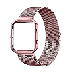 UMTELE abc97123x1QALMACDEVEDE Fitbit Blaze Accessories Band - Small - Rose Pink Gold