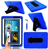 Magic Global Gadgets - BLUE Robot Shock Proof Armor Duty Case Cover For Samsung Galaxy Tab 2 10.1