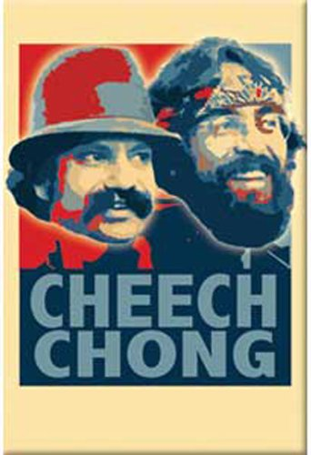 Licenses Products Cheech and Chong Retro Magnet - 1