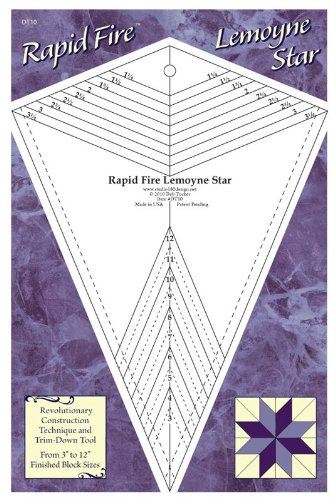 Rapid Fire Lemoyne Star, quilting tool, trim down tool for Lemoyne Star Units