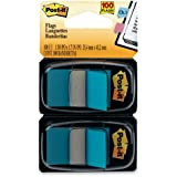 Post-it Flags, Bright Blue, 1-Inch Wide, 50/Dispenser, 2-Dispensers/Pack