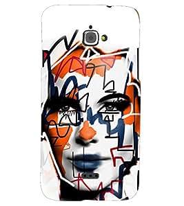 PRINTSHOPPII GIRL FACE Back Case Cover for InFocus M350