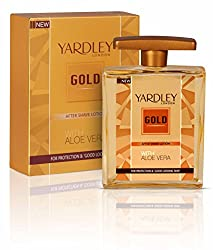 Yardley Gold After Shave Lotion with Aloe Vera, 50ml
