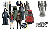 Doctor Who 2010 5inch Action Figure Set of 9 Wave 'B'